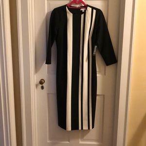 NY&Co | Black & White Midi Stretch Dress